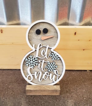Image of 3D Layered Snowmen - In Studio