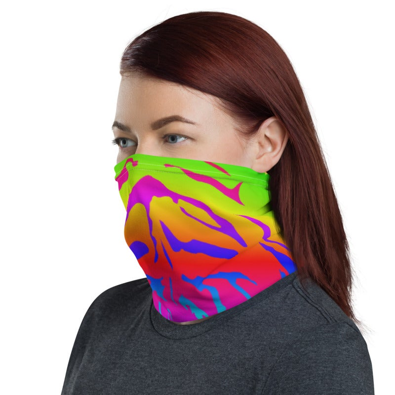 Image of Rainbow Tiger Neck Gaiter