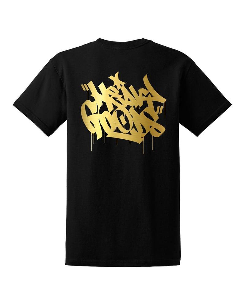 Image of Heavy Goods Gold Chisel Logo Tshirt