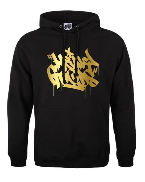 Image of Heavy Goods Gold Chisel Logo Hoodie