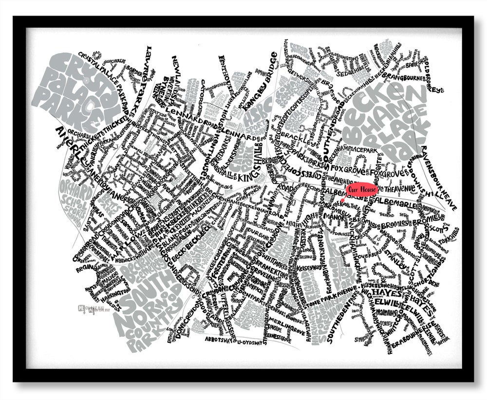 Image of Beckenham, Penge & Anerley SE20-BR3 – SE London Type Map