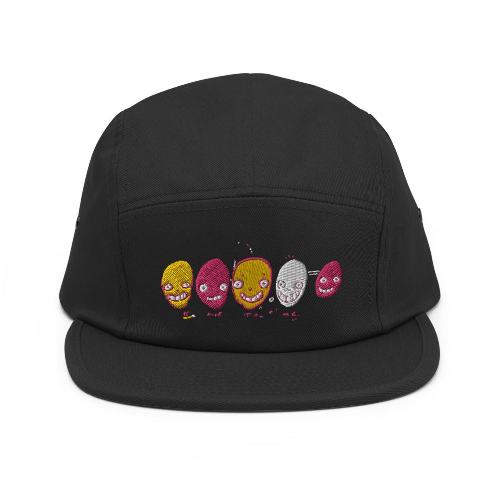 "Image of ""Be Nice To Me"" Embroidered Five Panel Cap"