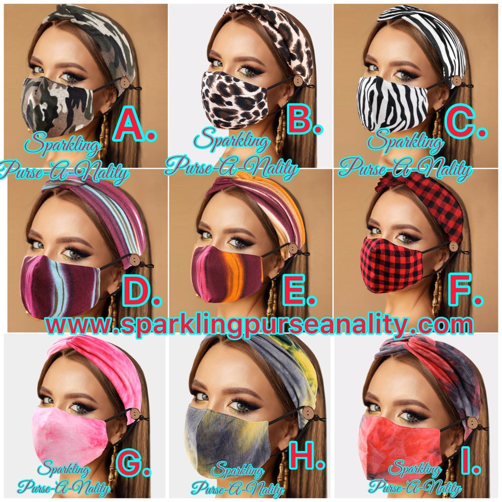 Image of Headband and Mask Set