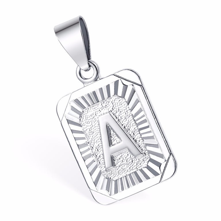 Letter Silver Pendant with Chain (3 weeks for delivery)