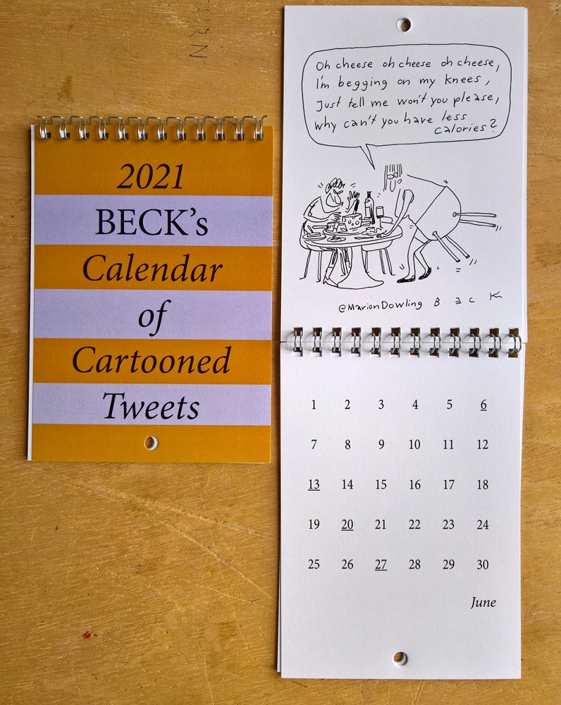 Image of 2021 Beck's Calendar of Cartooned Tweets