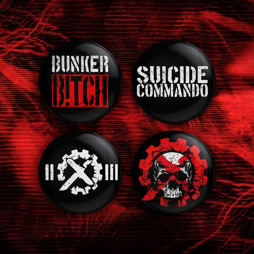 Image of SUICIDE COMMANDO BUTTON SET