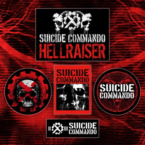 Image of SUICIDE COMMANDO STICKERSET