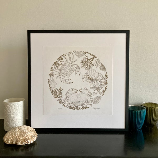 Image of Rock pool illustration- screen print
