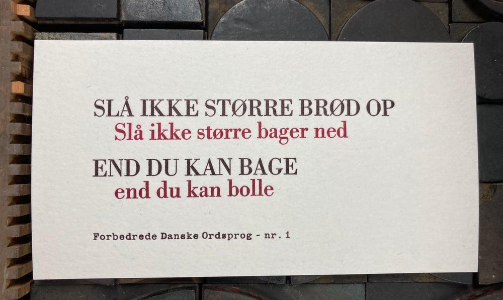 Image of Forbedrede Danske Ordsprog