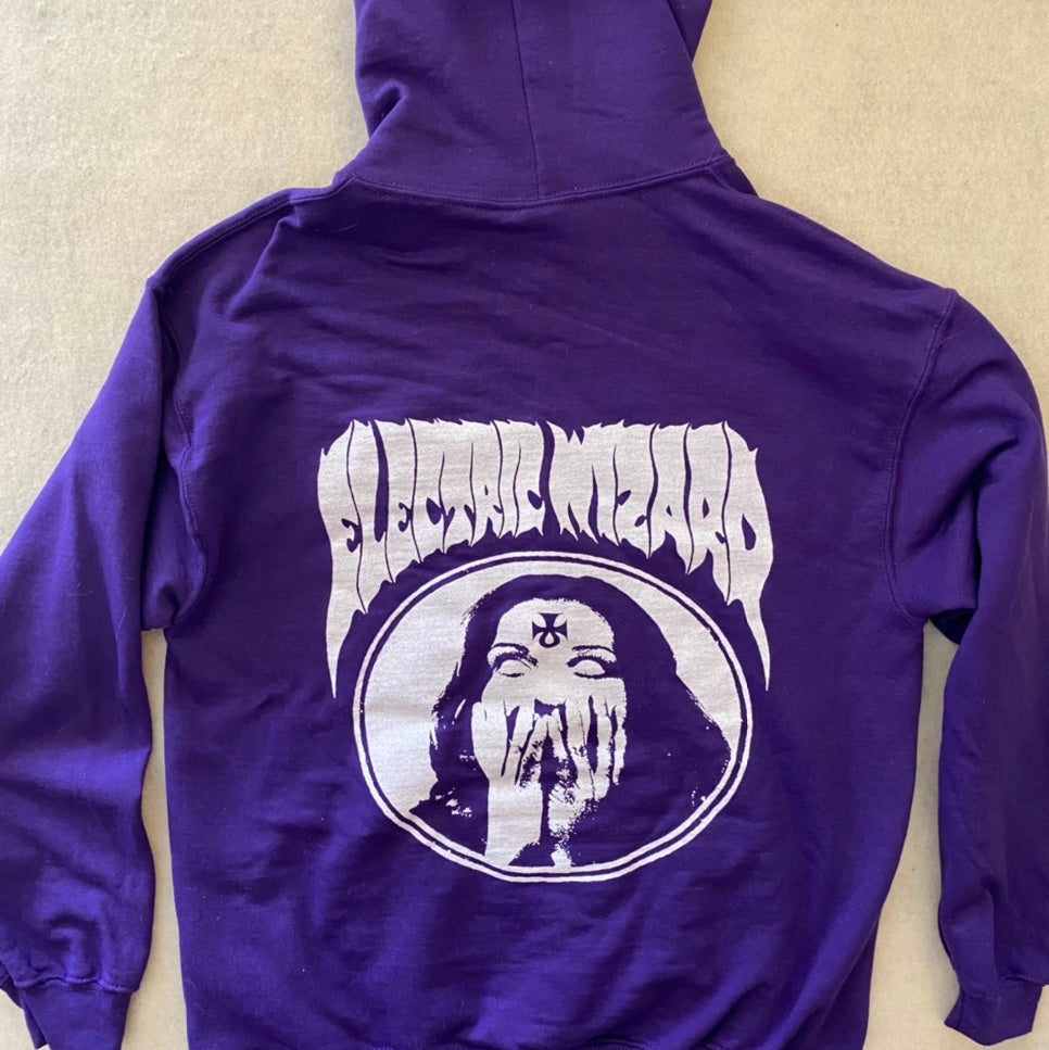 "Image of Electric Wizard  ""  Ankh "" Purple  Hoodie"
