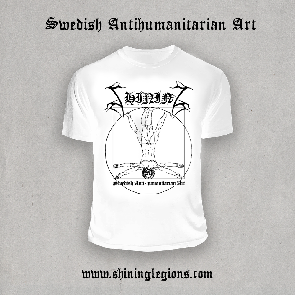 "Image of Shining ""Antihuman White 2020"" T-Shirt"