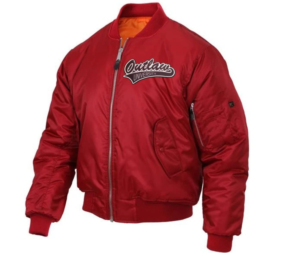 Image of Outlaw Flight Jacket - Comes in Black, Navy Blue, Red ,Grey