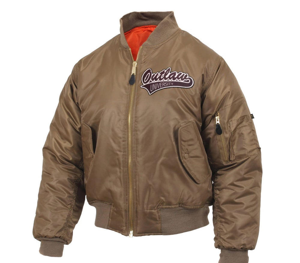 Image of Outlaw Flight Jacket - Comes in Camo, Sage Green, Brown, Maroon