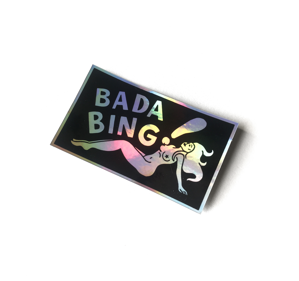 Image of Bada Bing sticker