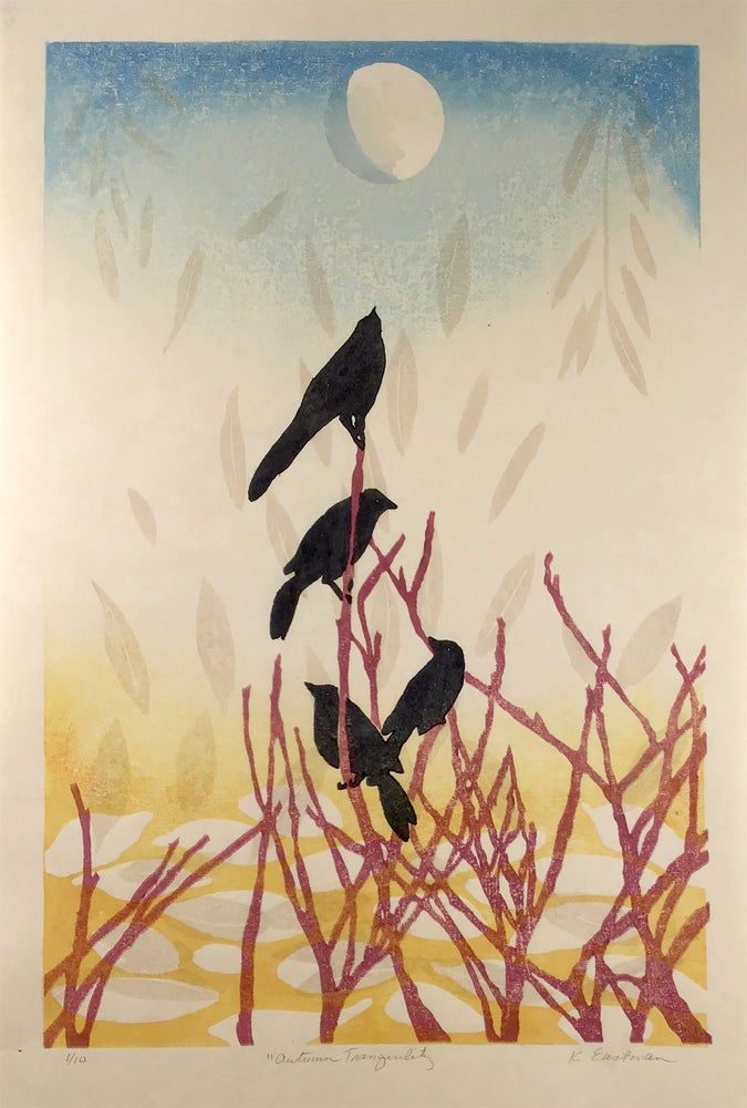 Image of Autumn Tranquility - Woodblock Print