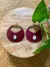 •cowrie• leather hoop earrings