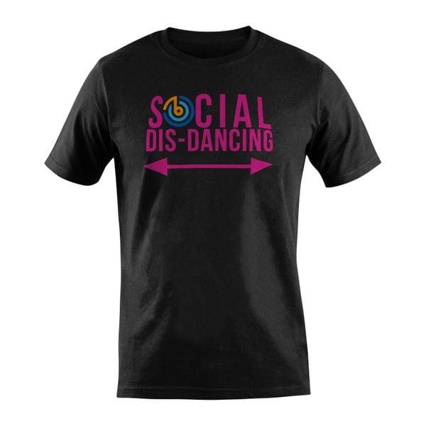 Social Dis-Dancing T-Shirt (Cerise)