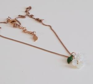 Image of Collier Cerises Blossom - Doré Or Rose