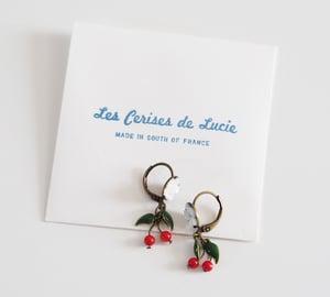 Image of Boucles Cerises Fleurs de Cerisier - Fantaisie