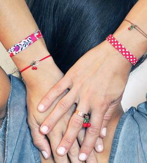 Image of Bracelets Cerises Biais Liberty - Fantaisie
