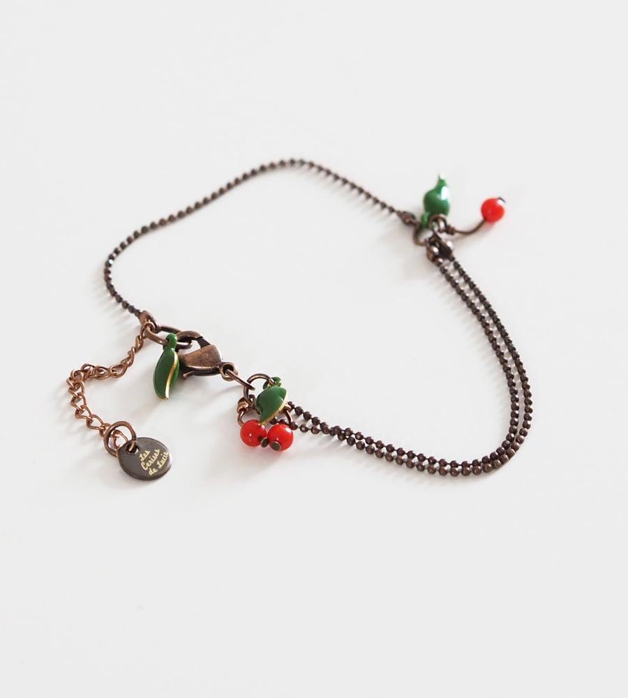 Image of Bracelet Micro Cerises - Fantaisie