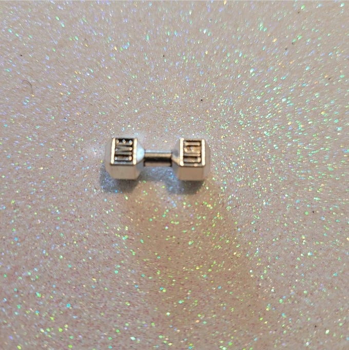 Image of Dumbbell Bead Charms