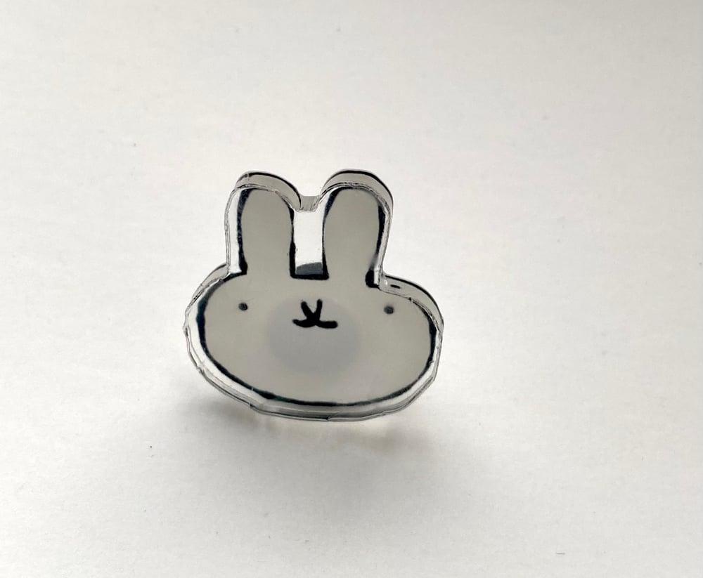 Sober Rabbit Pin