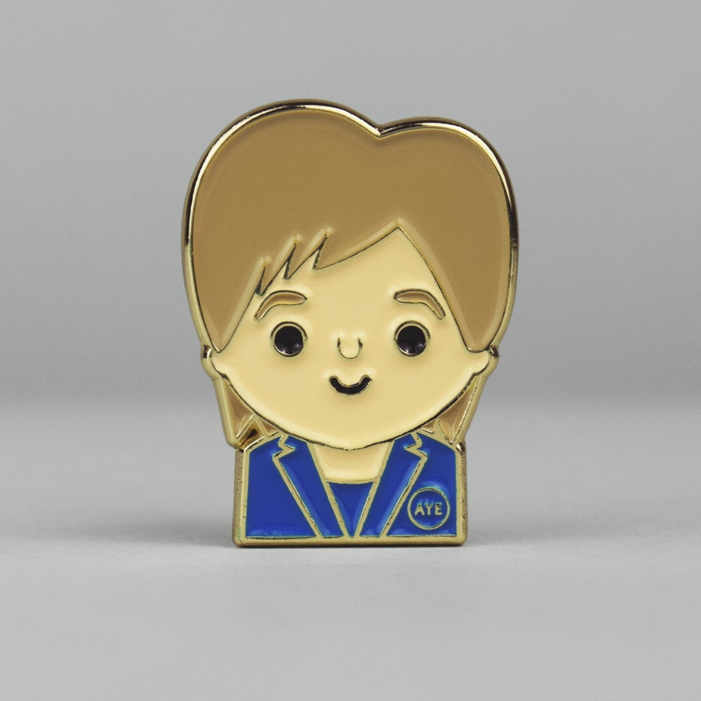 Image of Nicola - Limited Edition <html> <br> </html>  ( Enamel  Pin Badge)