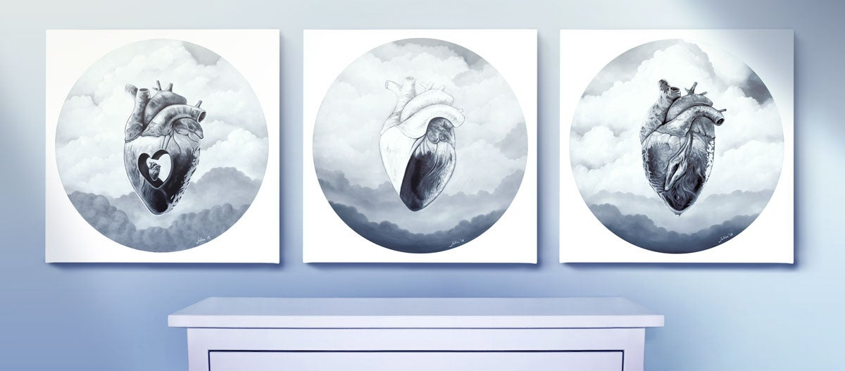 Heart Trio (Complete Set of 3 Prints)