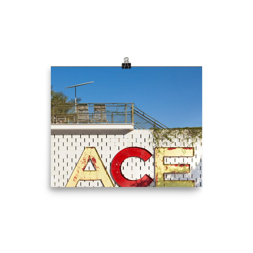 Image of ACE PALM SPRINGS NAME TAG