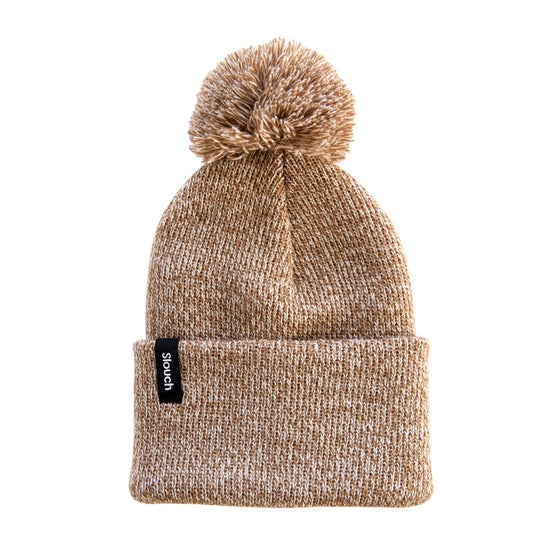 Image of Heather Copper Knit Cuff Beanie w/ Pom
