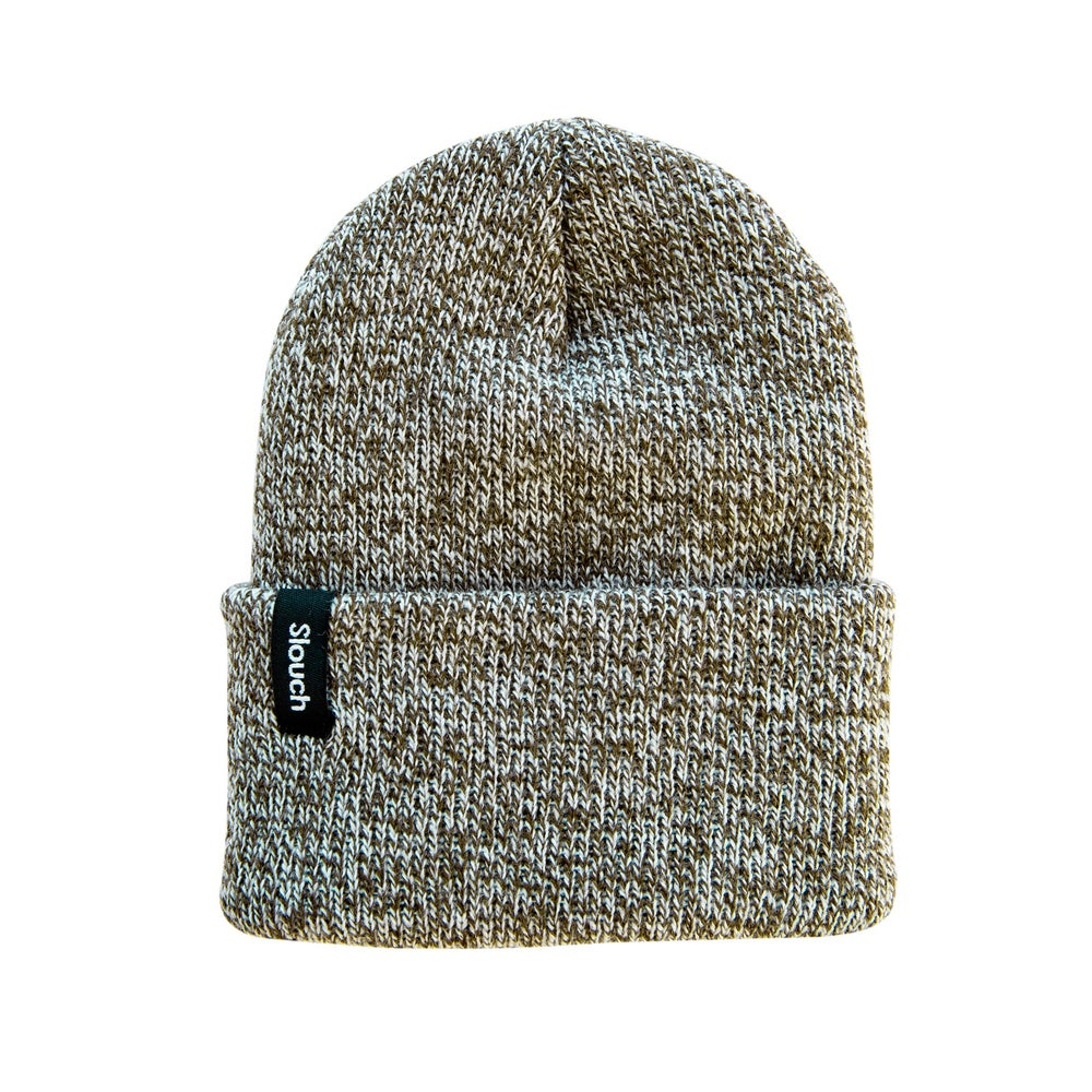 Image of Heather Olive Knit Cuff Beanie