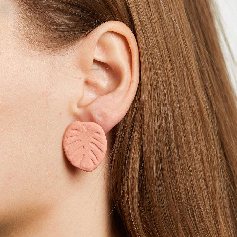 Image of manoa monstera earrings