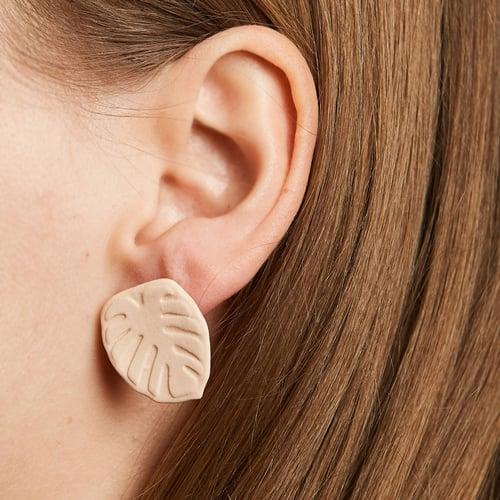 Image of manoa monstera earrings