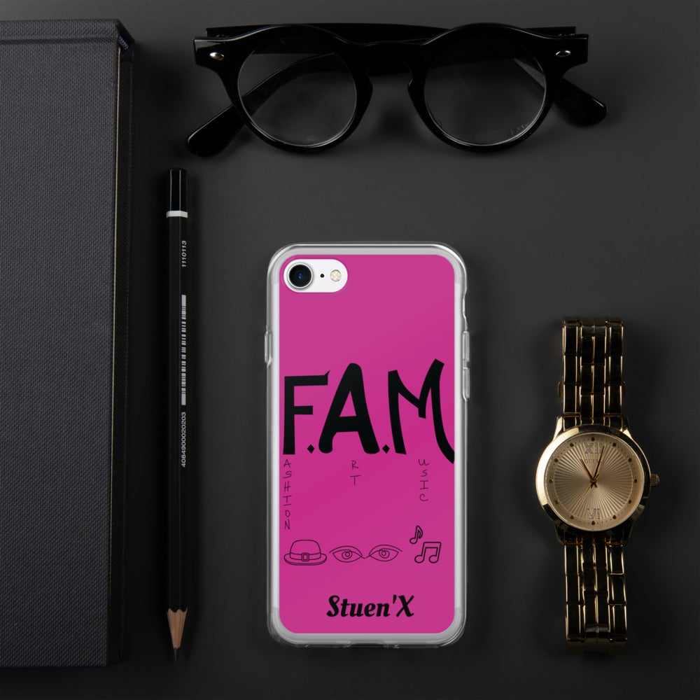 Image of Pink F.A.M. iPhone Case