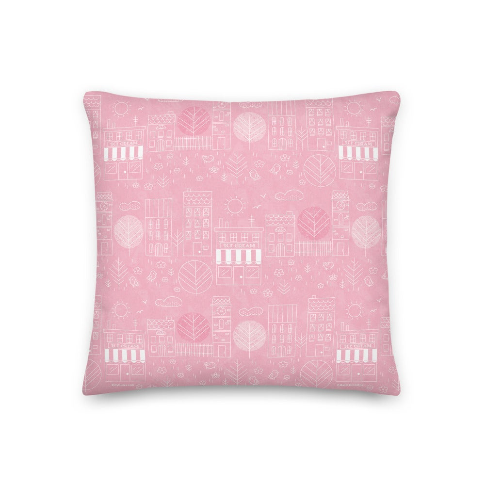 """Image of Classic Koko and Town Pattern 18"""" x 18"""" Pillow"""