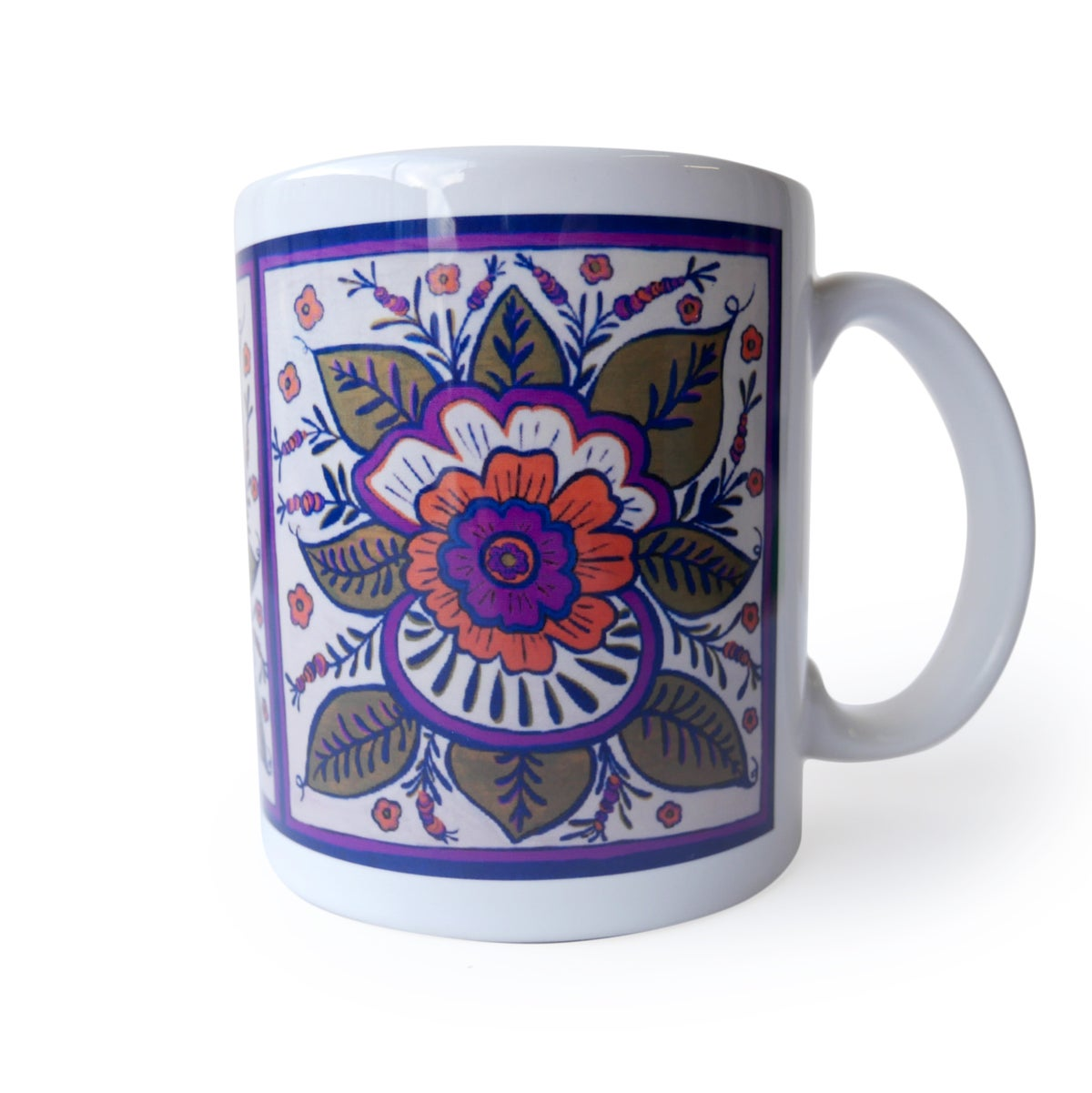 "Image of ""Purple Kurbits Flower"" Mug by Alison Aune"