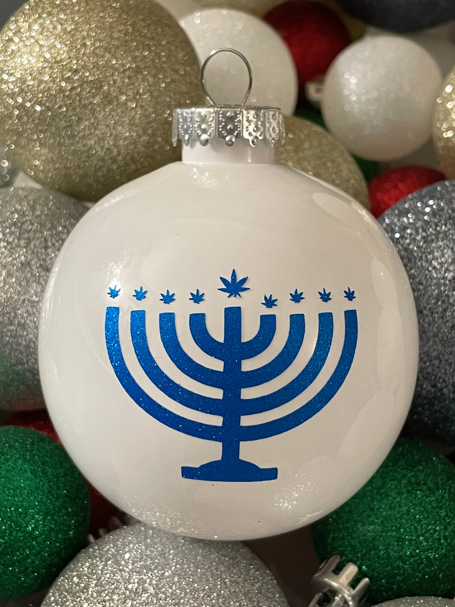 Image of Holidaze ornaments (white)
