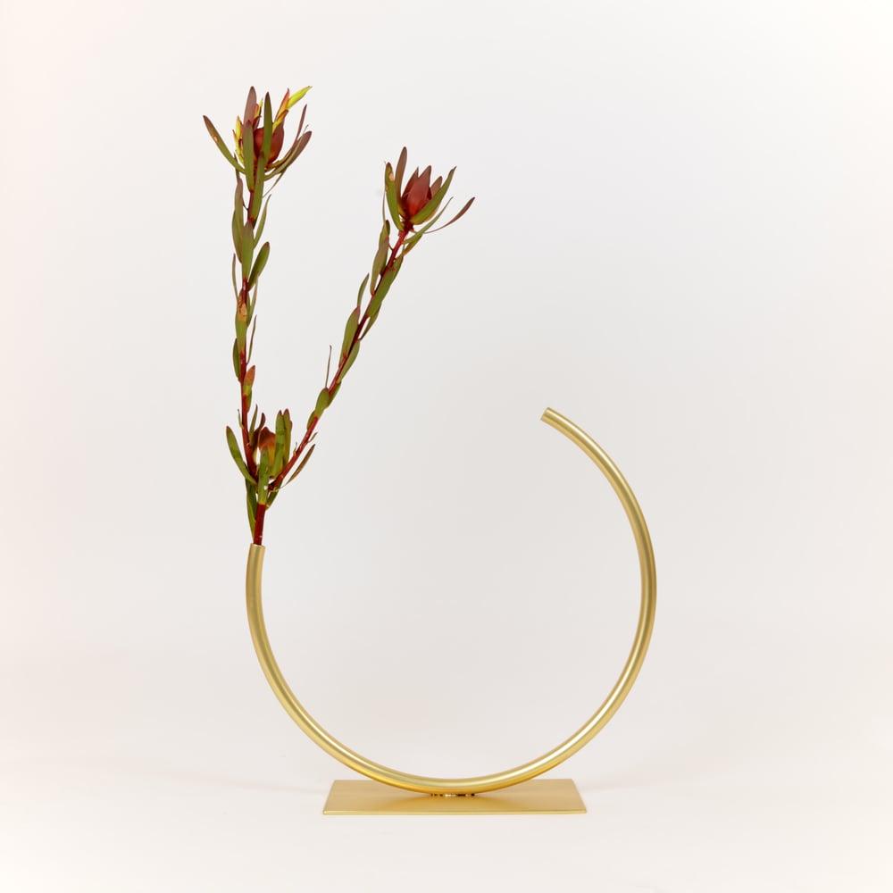 Image of Edging Over Vase with clear protective coating: Medium Size, Medium Tube