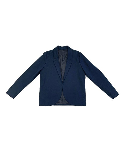 Image of Suit 1 - JACKET - Cotton twill - Dark blue