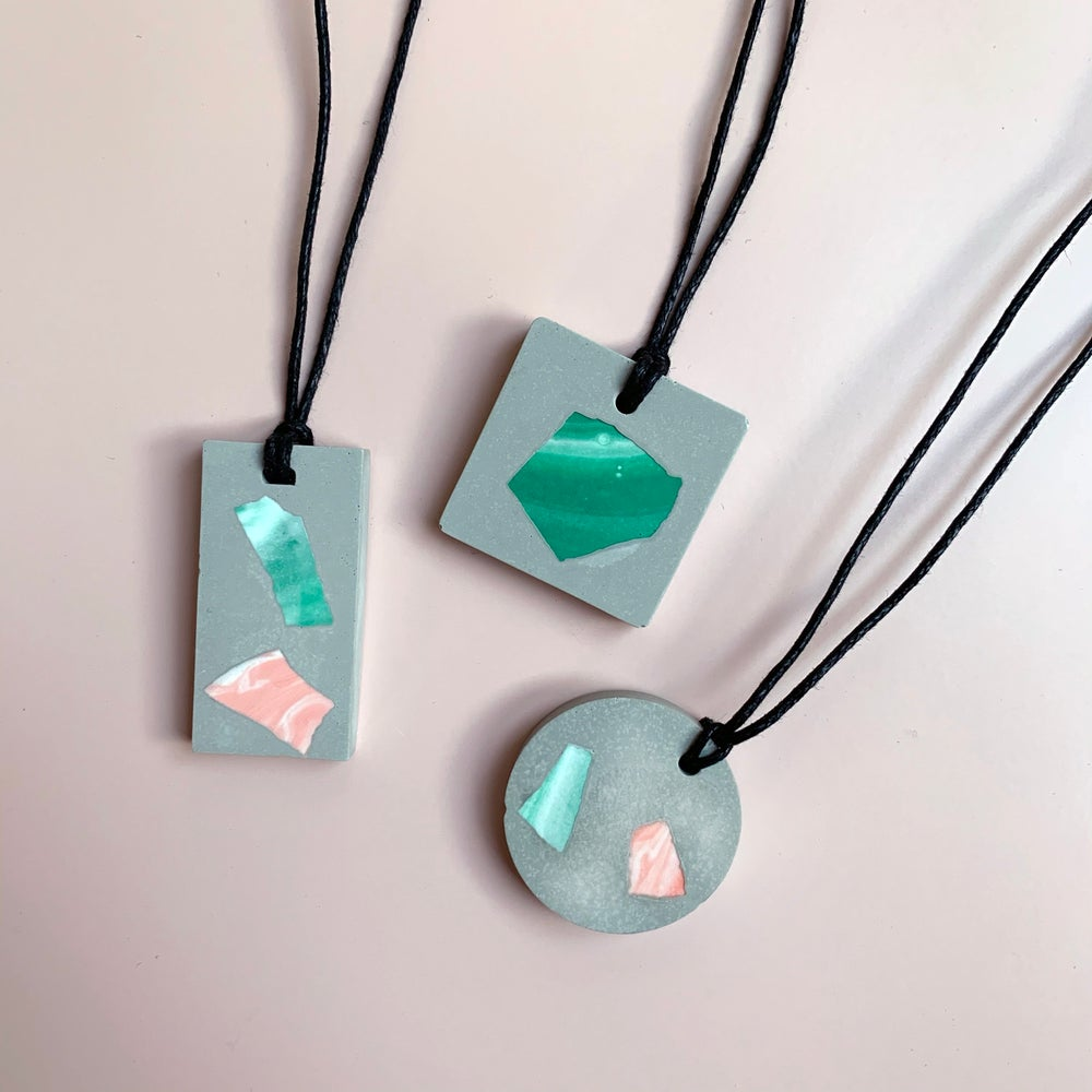 Image of Marble Shard Necklace