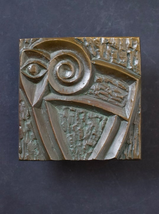 Image of Bronze Door Handle with Modernist Zoomorphic Motif