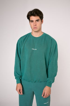 Image of WASHED GREEN SWEATER