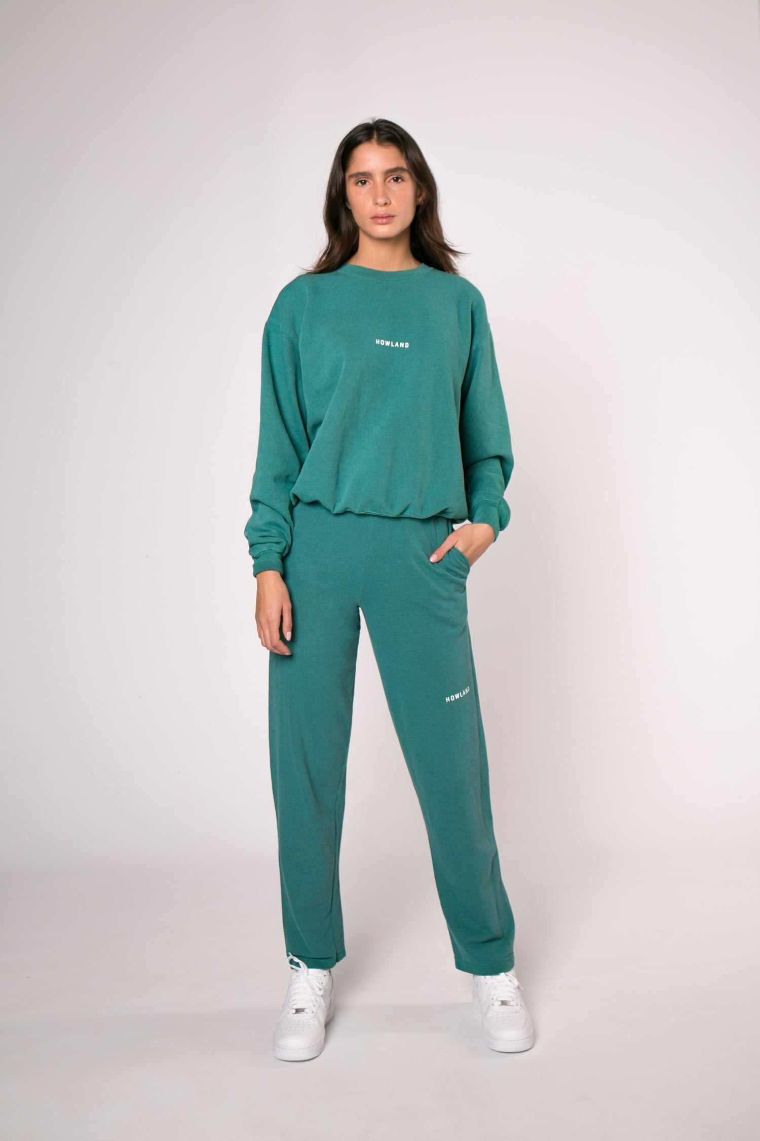 Image of WASHED GREEN JOGGER