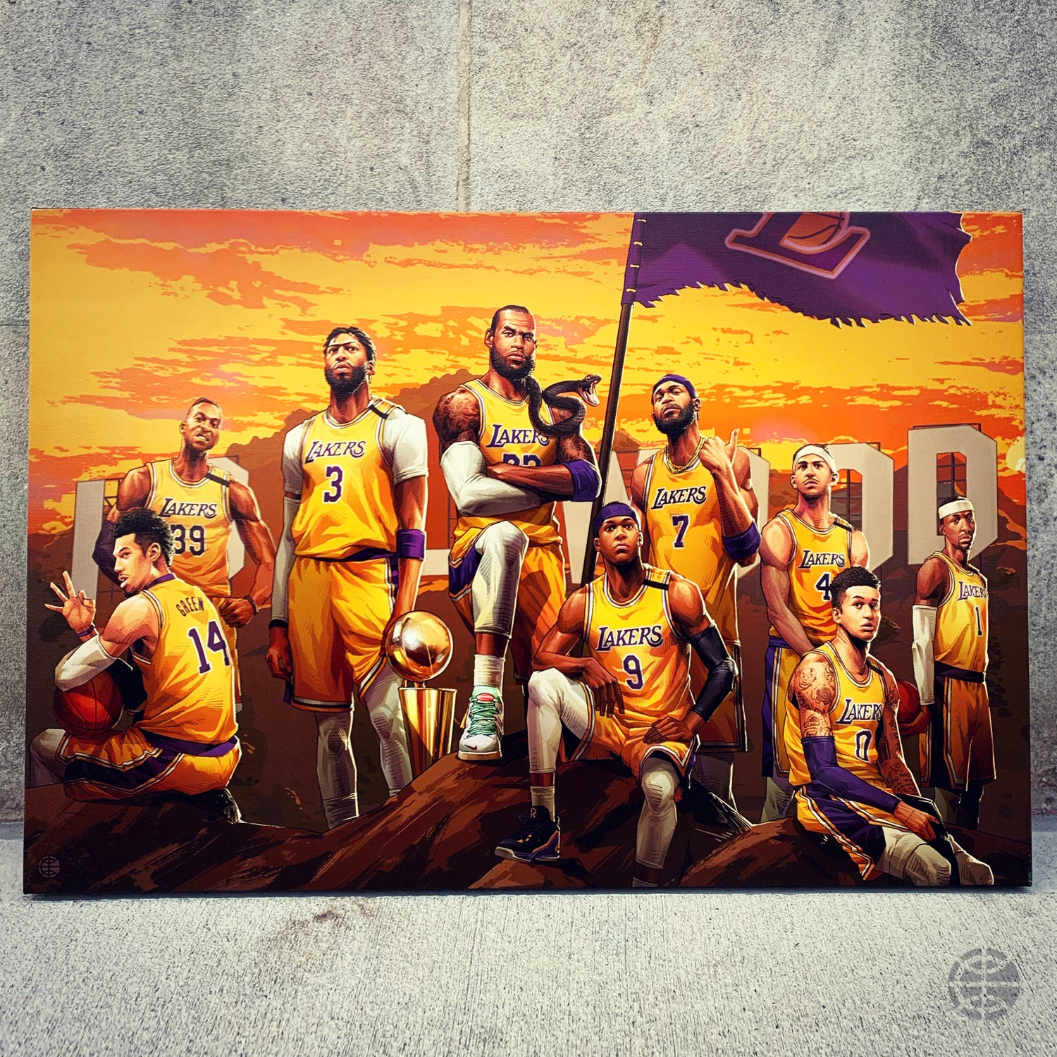 """Image of """"2020 CHAMPS"""" CANVAS"""