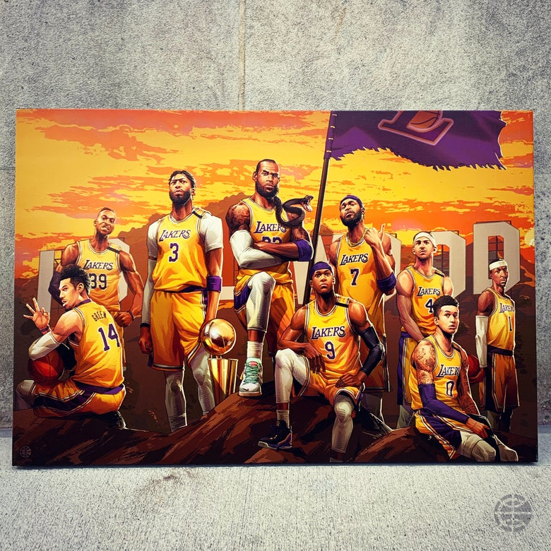 "Image of ""2020 CHAMPS"" CANVAS"