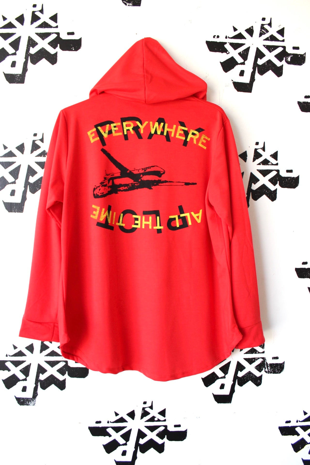 Image of from the sky hoodie in red