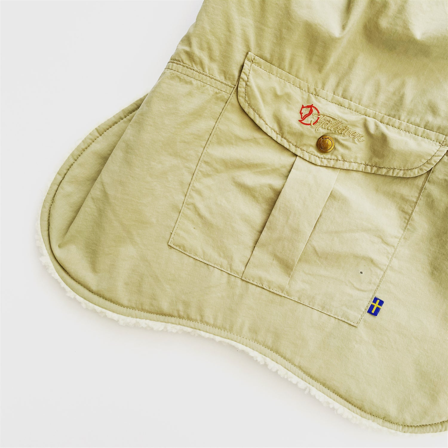Image of Fjallraven Pile Lined Dog Coat in Sand
