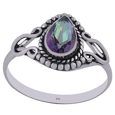 Image of Arcelia Sterling Silver Mystic Topaz Ring