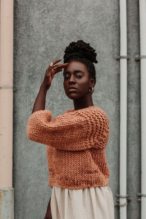 Image of Trefann Sweater LIMITED  (Camellia Fibre Co. Merino wool)